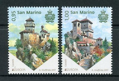 San Marino 2017 MNH Castles Castle Europa 2v Set Architecture Stamps