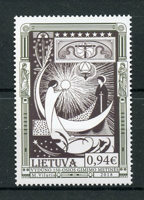 Lithuania 2018 MNH Vydunas 150th Birth Anniv Teacher 1v Set Poets Writers Stamps