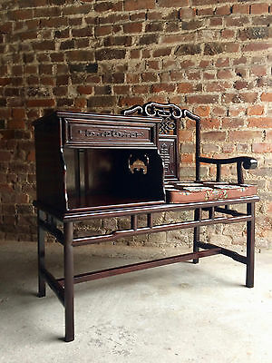 Hall Seat Settle Telephone Table Hall Bench Solid Teak Ming Style
