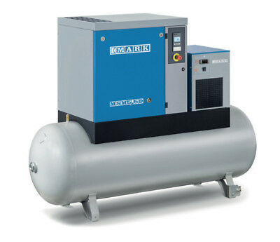 Mark Screw Compressor MSM Maxi with Container and Tumble Dryer 5,5 Bis 15 KW