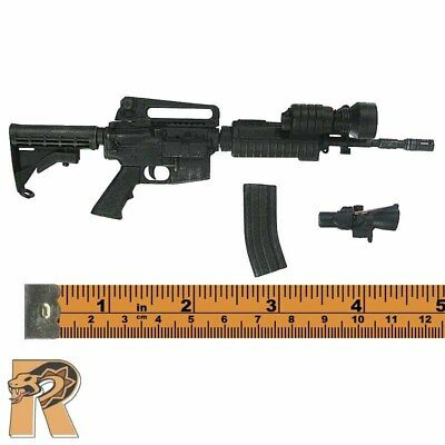 SWAT - M4 Assault Rilfe w/ Light and Scope - 1/6 Scale - ART Action Figures