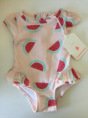 BNWT Country Road Baby Girl Watermelon Bathers Size 000 (0-3 Months)