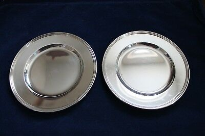 "International Sterling Silver Bread Plate 6"" Lord Saybrook Pattern H413-9"