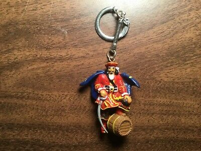 Captain Morgan Rum Pirate figure Keychain Plastic alcohol whisky memorabilia