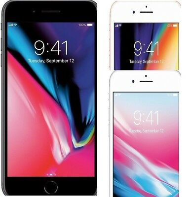 Apple iPhone 8 Plus 64GB 256GB GSM Unlocked AT&T Smartphone Gold Silver Gray