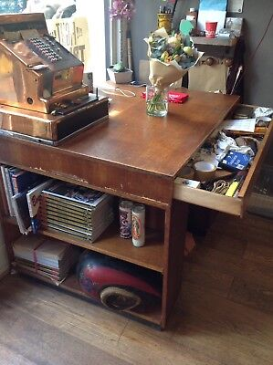 Vintage 1960s Mid Century Wooden Architect Deep Plan Drawing Desk Chest