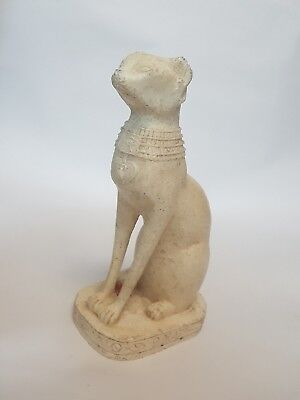 Antique Egyptian Ancient Cat God- Marble Stone Egyptian Museum Art