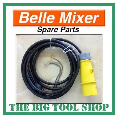 Belle 110V Glanded Cable Lead For Mini Mix 150 Mixer Motor, Spare Parts