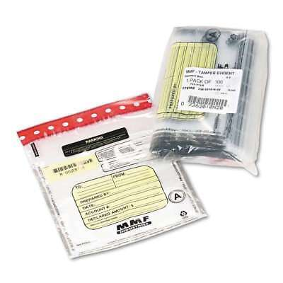 MMF Industries Tamper-Evident Deposit/Cash Bags Plastic 9 x 12 Clear 100 Bags
