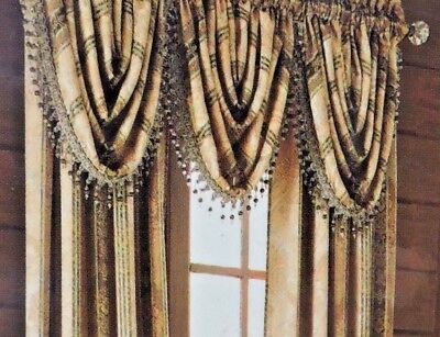 Home Garden Curtains Drapes Valances Croscill Strickland Waterfall Swag Valance New In Package Stbalia Ac Id