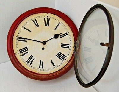 Antique Large Wall Clock in need of complete restoration Approx 15.5 Diameter