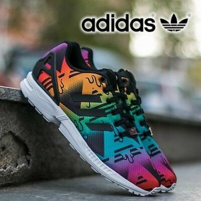 ADIDAS ORIGINALS ZX Flux Unisex Trainers Running Shoes Mens Womens Free Postage