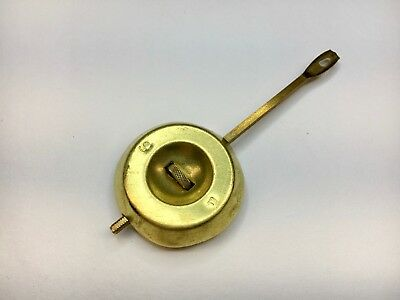 Antique Ansonia Clock Pendulum Brass 3 ounce 3 1/2""