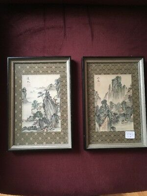 1920s To 1930s Japanese Paintings - Pair. High Quality. Japan. Antique/Vintage
