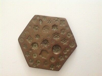 Old Indian Beautiful Design Brass Jewellery Stamp Die/Seal/Stamp