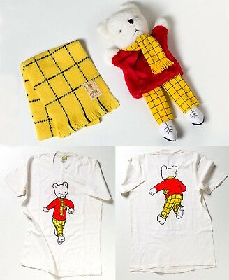 Genuine Rupert Bear merchandise from 1980's,