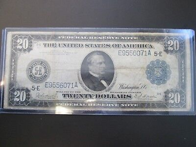 Series 1914 $20 Federal Reserve Note (Circulated) E9556071A