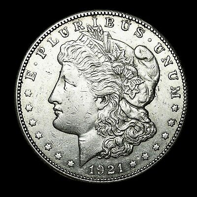 1921 S ~**ABOUT UNCIRCULATED AU**~ Silver Morgan Dollar Rare US Old Coin! #K53