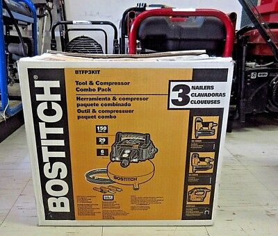 BOSTITCH BTFP3KIT 3 Pc NAILER TOOLS & COMPRESSOR COMBO KIT $NEW/OTHER$