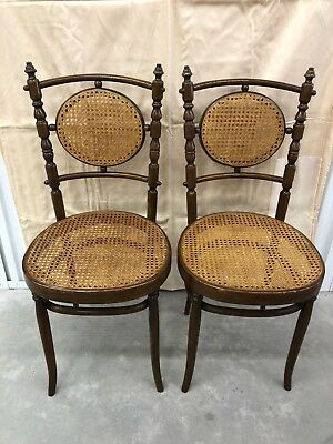 Bentwood Cane Chairs Made in Italy - Set of 2