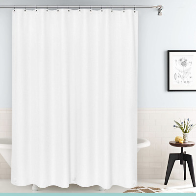 Heavy Duty Mildew Free Waterproof Shower Curtain Liner With Magnets New