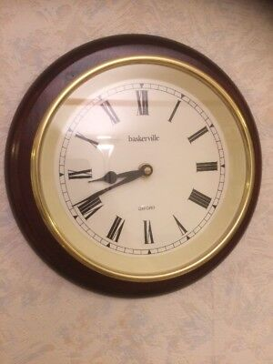 Baskerville Oxford Solid Wood Wall Clock