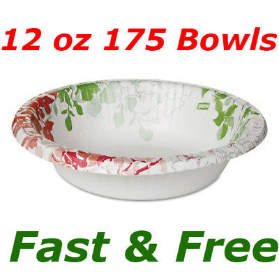 Dixie Ultra Modern Heavyweight, Soak-Proof, Microwavable Paper Bowl 12 oz 175 ct