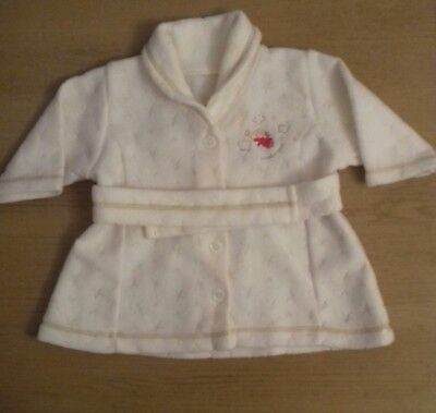 Baby Girls White Dressing Gown -Mothercare 0-3 months