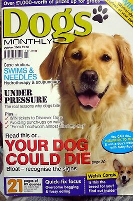 dogs monthly magazine october 2008