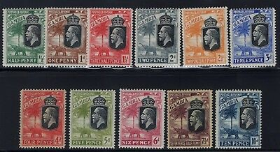 1922-29 Gambia. SC#102-12, SG#122-33. Mint, Lightly Hinged, FVF.