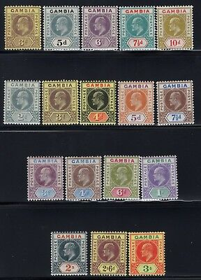 1902-05 Gambia. SC#32-39, SG#49-56. Mint, Lightly Hinged, VF.