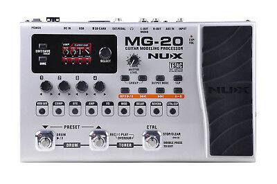 NuX MG-20 - Guitar Modeling Processor with Drum Machine Looper