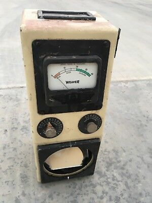 Vintage Photoscope Weaver Headlight Tester Garage Gas Station Oil Mancave