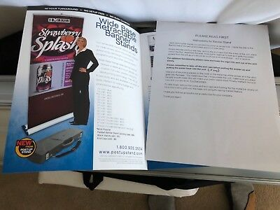 Aluminum 33x80 Retractable PopUp Stand/Banner Trade Show Display. Never used!