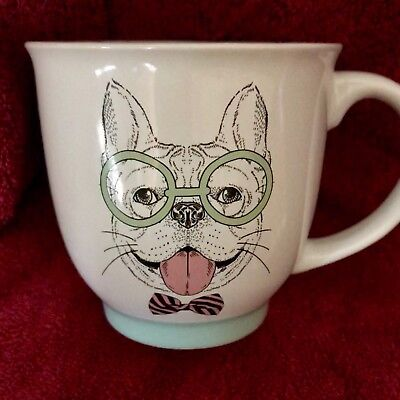 BOSTON TERRIER Large Coffee Mug Boston Terrier with Bow Tie & Glasses LOOK