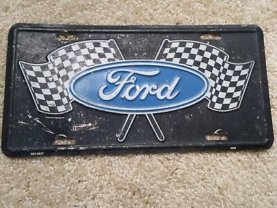 Ford Checkered Flags License Plate