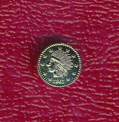 1861 California Gold **one Fourth** Highly Collectible Coin!