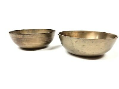 Antique Chinese Asian Oriental Brass Bowls Set of 2