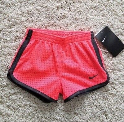 NWT $ 20.00 Nike 2T Toddler kids girls all mesh running shorts Hot Punch