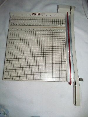 Boston 2615 Standard Office Paper Cutter 15 x 15 Heavy Wood Table Top No Reserve
