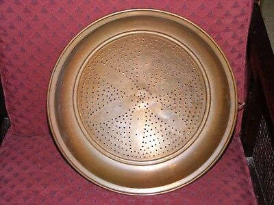 Large Copper Strainer, Great Practical Decorative Item