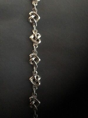 "James Avery Heart Knot Link Bracelet Sterling Silver Length 7"" Retails $220"