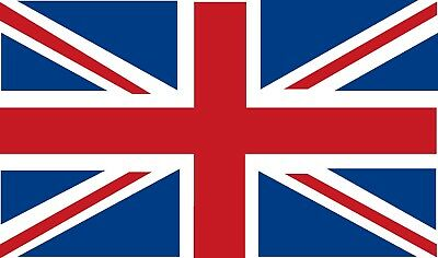 6 X Great Britain Union Jack Flag Stickers Sign Sticker