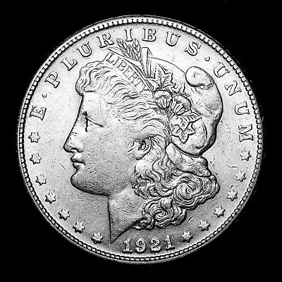 1921 S ~**ABOUT UNCIRCULATED AU**~ Silver Morgan Dollar Rare US Old Coin! #516