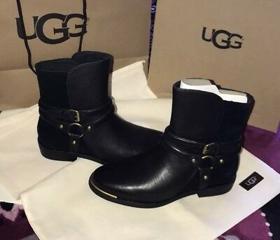 90d774986a4 UGG KELBY RICH Leather and Suede Black with Gold Accent Women's ...