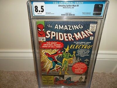 Amazing Spider-man 9 CGC 8.5 White Pages - First Electro Appearance! New Slab!!