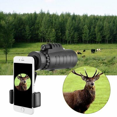 40X60 Camera Monocular Zoom Optical Lens Telescope Tripod Clip Mobile Phone HD
