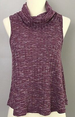 0405cf7aa04 NEW RUE 21 Women s Knit Cropped Tank Top Turtleneck Loose Fitting SIZE  SMALL NWT