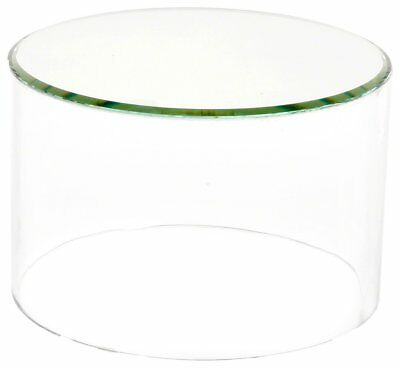 "OpenBox Plymor Brand Clear Acrylic Cylinder Display Riser w/ Mirror Top, 2"" H x"