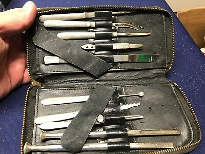 Vintage Surgical Tool Kit Doctor F.a. Hardy ...look